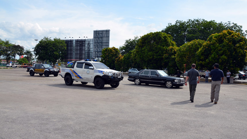 Instructors observing the team during defensive driving drills 2