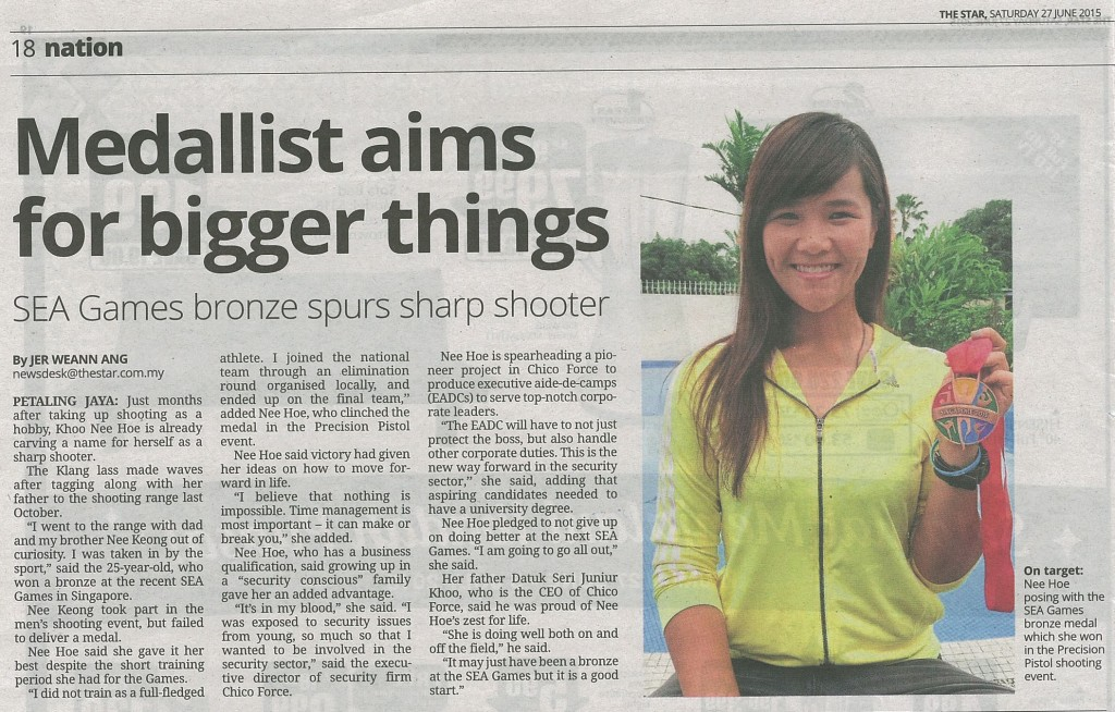 Medallist aims for bigger things